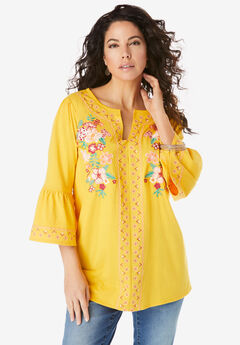 Embroidered Peasant Tunic,