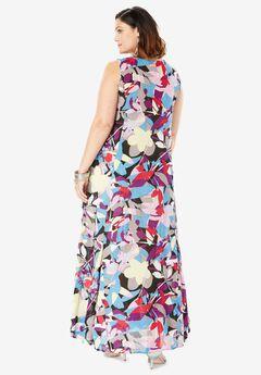 e51436fc0447 Crinkle A-Line Maxi Dress