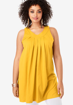 V-Neck Trapeze Tunic,