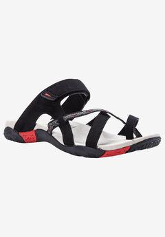 Eleri Sandal by Propet®, BLACK RED
