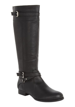 The Janis Wide Calf Boot by Comfortview®, BLACK