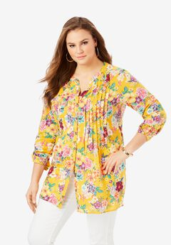 High-Low Pintuck Tunic,
