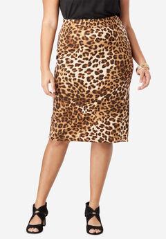 Ultimate Ponte Pencil Skirt, NATURAL ANIMAL PRINT