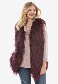 Faux Fur Vest By Donna Saylers Fabulous-Furs,