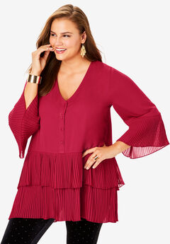 Tiered Tunic, CLASSIC RED