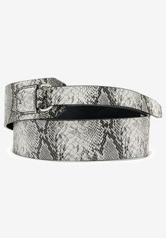 Studded Hidden Close Belt, GREY SNAKE