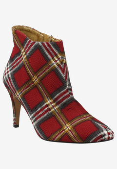 Zakary Bootie by J. Renee®, RED MULTI PLAID