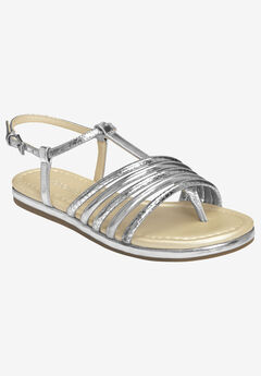 Droplet Sandal by Aerosoles®, SILVER COMBO