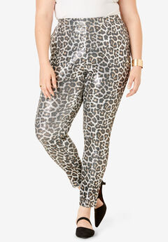 Sequin Legging, ANIMAL PRINT