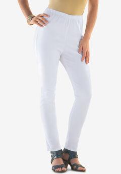 Pull-On Stretch Denim Skinny Jean by Denim 24/7®, WHITE DENIM
