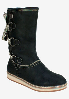 Tivia Cold Weather Boot by White Mountain, BLACK FABRIC