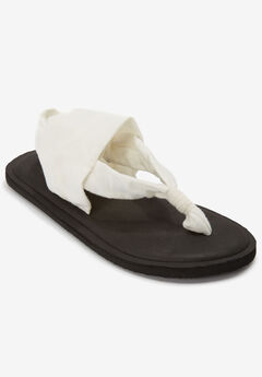 The Leni Soft Footbed Sandal by Comfortview®, WHITE