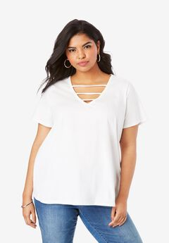 Lattice V-Neck Ultimate Tee,