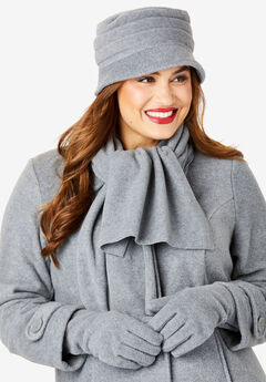 Fleece Hat, HEATHER GREY
