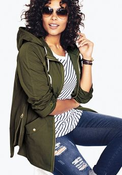 Hooded Anorak Jacket,