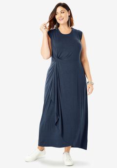 3c5b105227d Supersoft Ruched Maxi Dress| Plus Size Maxi Dresses | Full Beauty