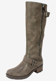 Blackbird Boot by White Mountain, STONE SUEDED SMOOTH