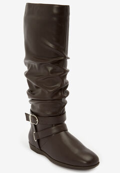 The Arya Wide Calf Boot by Comfortview®, BROWN