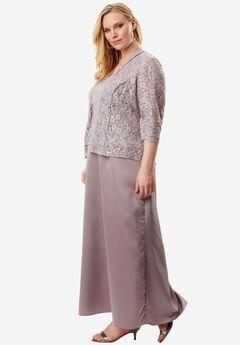 Lace Jacket A-Line Dress by Alex Evenings,