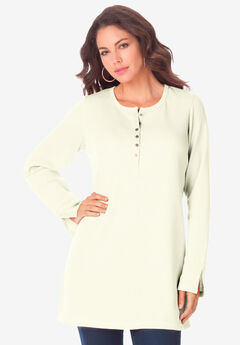 Thermal Henley Tunic, IVORY
