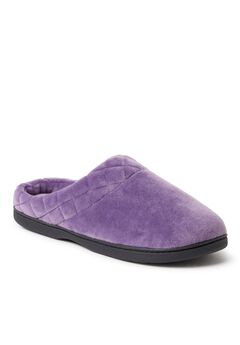 Darcy Microfiber Velour Clog with Quilted Cuff by Dearfoams,