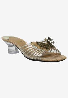 Ommika Sandal by J.Renee®, CLEAR GOLD NATURAL