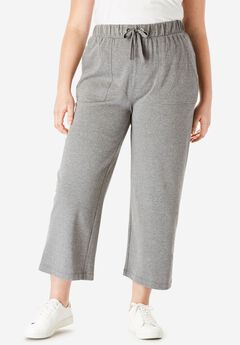 Easy Crop Pant with Drawstring Waist,