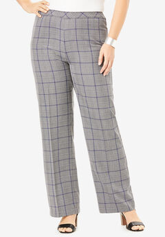 Wide-Leg Bend Over® Pant, GRAY PLAID