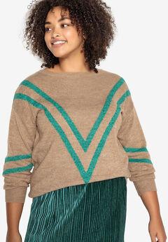 Chevron Stripe Pullover Castaluna by La Redoute,