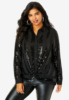 Knot-Front Blouse,