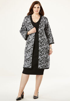 Sheath Dress with Sweater Jacket,