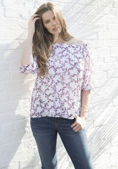 Floral Off The Shoulder Shirt,