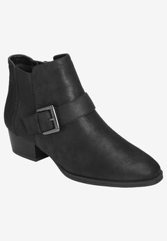 Cross Out Bootie by Aerosoles®, BLACK FABRIC