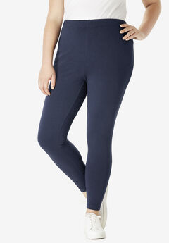 Ankle-Length Essential Stretch Legging, NAVY