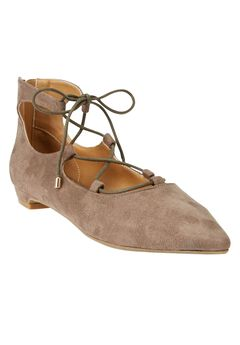 Odell Leather-Like Flats by Comfortview,