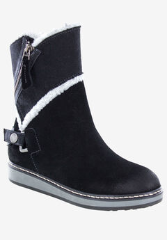 Teague Boot by White Mountain, BLACK SUEDE