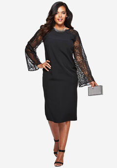 Lace Sheath Dress,