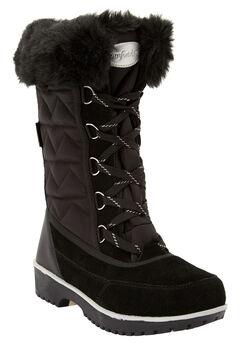 The Eileen Waterproof Boot by Comfortview®, BLACK SILVER MULTI