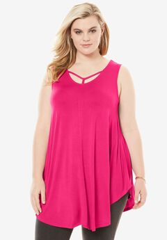 Strappy Drape Tunic,