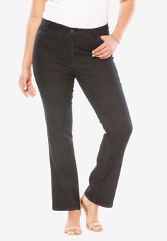 Bootcut Jean with Invisible Stretch® by Denim 24/7®, TRUE BLACK DENIM