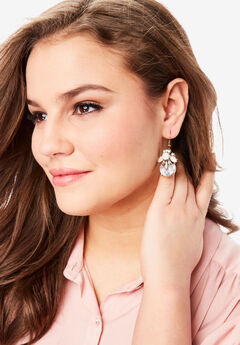 Floral Gem Earrings,
