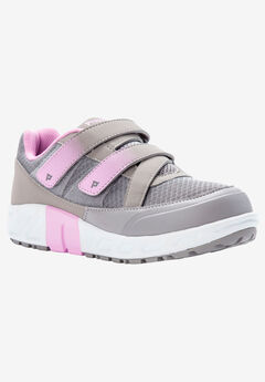 Matilda Strap Sneaker by Propet®, GREY PINK