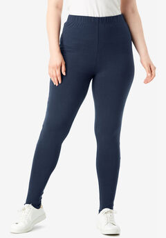 Essential Stretch Stirrup Legging, NAVY