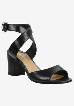 Drizella Sandal by J.Renee®, BLACK KID SKIN
