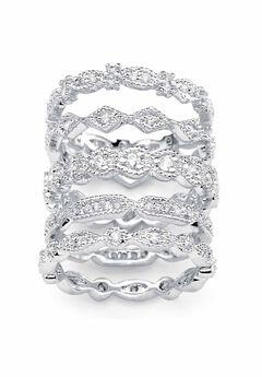 5-Piece Cubic Zirconia Ring Set,