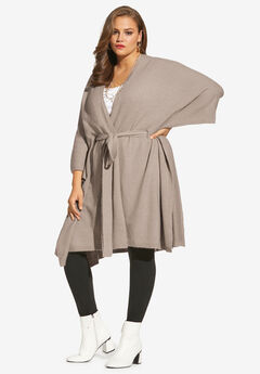 Soft Luxe Belted Cardigan, OYSTER PEARL