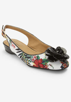 Jessa Fabric Slingback by Comfortview®, TROPICAL FLORAL