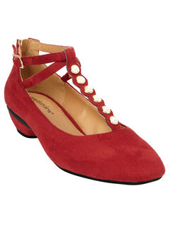 The Elaine Pump by Comfortview®, CRIMSON