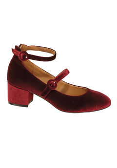 The Kiara Pump by Comfortview®, BURGUNDY
