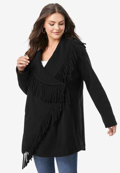 Fringe Fleece Jacket,